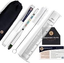 Brewer's Elite Hydrometer & Test Jar Combo, Hardcase, Bag, Brush & Cloth..