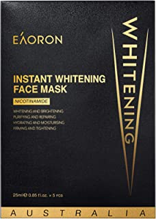 Eaoron Instant Whitening Face Mask 5 Piece Pack, 5 count Pack of 5
