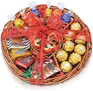 Christmas Gift Basket - Chocolate Variety Chocolate Tray for Family, Friends, Gourmet Food Gifts, Holiday, Office for Men and Women, Corporate