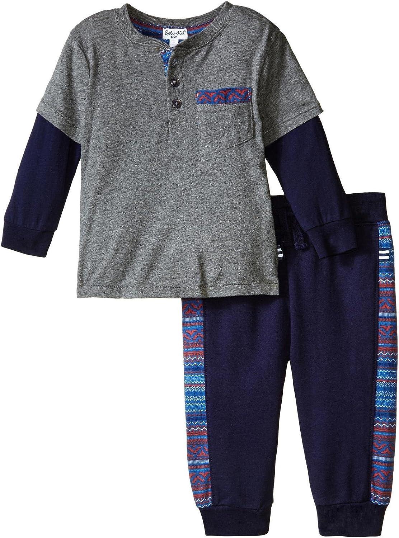 Splendid Baby Boys' Modal Jersey Printed Trim Set