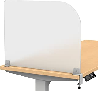 """VaRoom Studio Wing Desktop Privacy Panel – Frosted Acrylic Clamp-on Desk Divider –23"""" W x 18""""H Partition"""