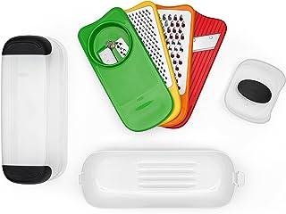 OXO Good Grips Set complet râpes, mandoline et spiralizer – Accessoires pratiques pour la cuisine - Multicolores