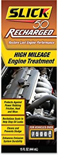 Slick 50 750002 Recharged High Mileage Engine Treatment, 15-Ounce