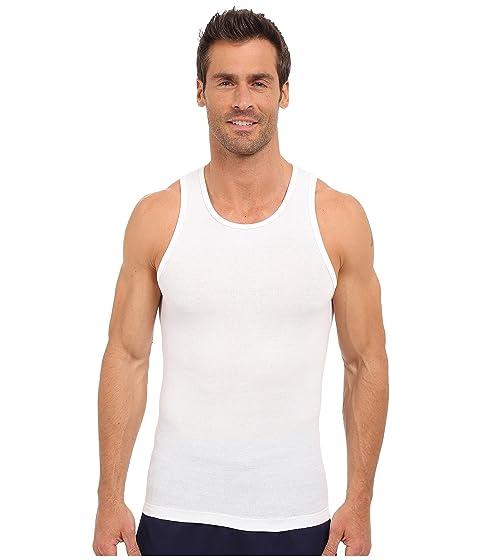 sin mangas adidas canalé en Comfort de 3 de blanco Camiseta blanco piezas Athletic blanco 6qwdR1nx