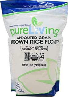 Pure Living Liv Organic Sprouted Brown Rice Flour - 24 oz