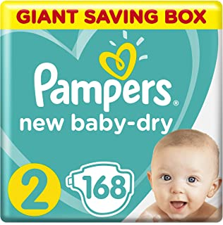 Pampers Baby-Dry, Size 2, Mini, 3-8 kg, Giant Saving Box, 168 Diapers