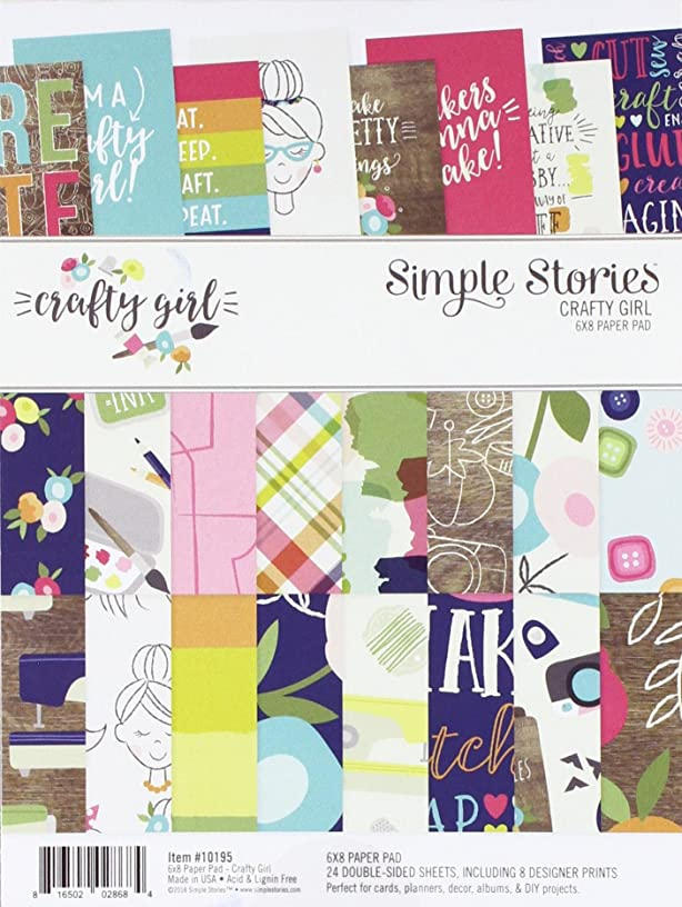 Simple Stories Crafty Girl 6x8 Paper Pad