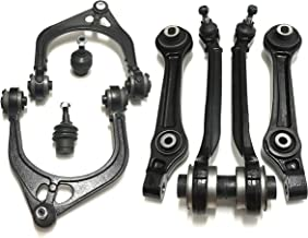 PartsW 8 Piece Suspension Kit for Chrysler 300 & Dodge Charger Challenger Magnum, Front Upper & Lower Control Arms, Front Lower Control Arms (Rear Position) & Adjustment Lower Ball Joints