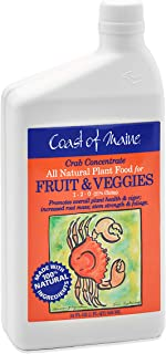 Coast of Maine - Crab Concentrate, All Natural Plant Food for Fruit and Vegetables, 21% Chitin, 1-2-0 NPK (1 FL QT)