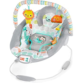 Bright Starts Whimsical Wild Cradling Bouncer Seat with Soothing Vibration & Melodies