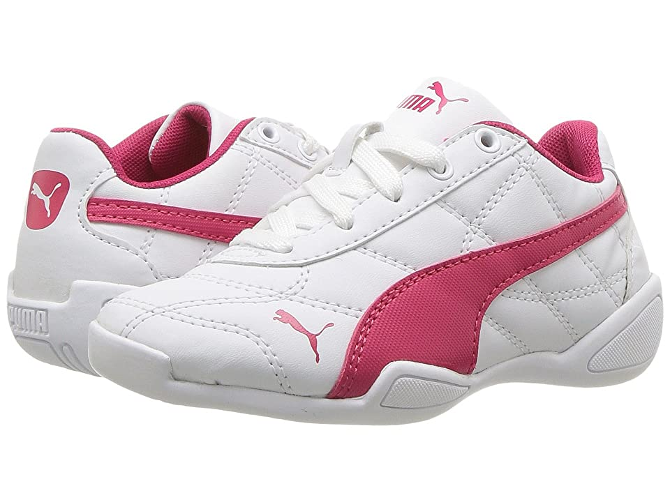 Puma Kids Tune Cat 3 PS (Little Kid/Big Kid) (Puma White/Love Potion) Boys Shoes