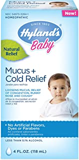 Baby Cold Medicine, Infant Cold and Cough Medicine, Decongestant, Hyland's Baby Mucus and Cold Relief, 4 Fluid Ounce