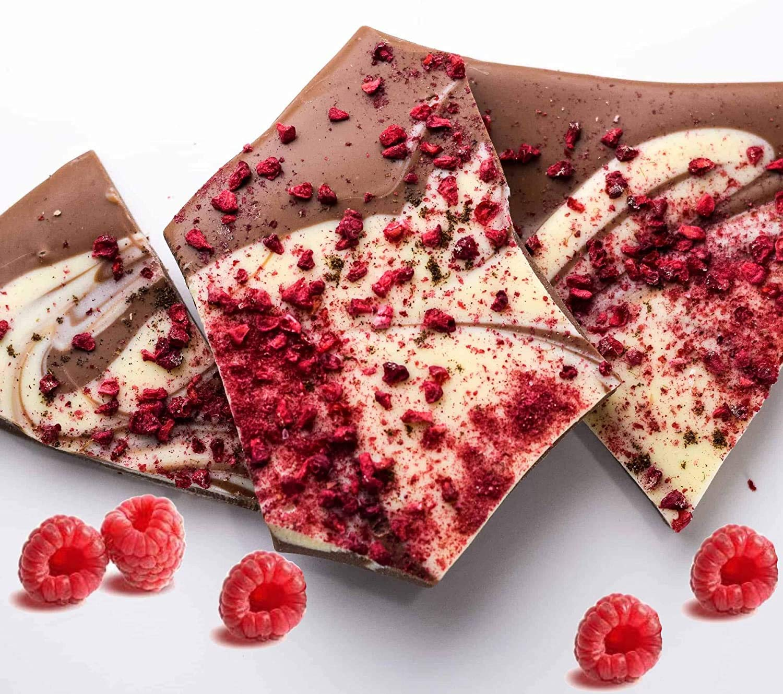 Andy High quality new Anand's Bulk sale Raspberry Vanilla Va Delicious Bark Chocolate