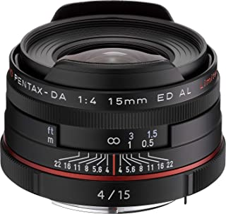 PENTAX リミテッドレンズ 超広角単焦点レンズ HD PENTAX-DA15mmF4ED AL Limited ブラック Kマウント APS-Cサイズ 21470