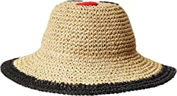 San Diego Hat Company Kids - Paper Crochet Sun Brim w/ Face Patch (Little Kids/Big Kids)