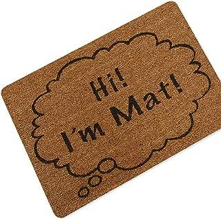 Welcome Doormat Entrance Door Mat Word Printed Anti-Slip Floor Mat Area Rugs Funny Custom Front Door Mat Carpet,I mat,60x90cm