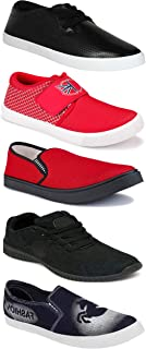 WORLD WEAR FOOTWEAR Sports Running Shoes/Casual/Sneakers/Loafers Shoes for Men Multicolor (Combo-(5)-1219-1221-1140-690-748)