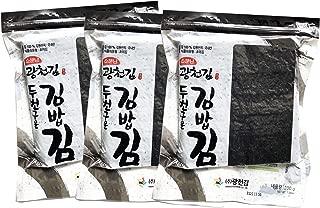 300 Full Sheets Yaki Sushi Nori Roasted Seaweed Rolls N Wraps Laver 200 Gram - 7.05 Ounce - 300 Sheets ( 3 Pack X 100 Sheets )