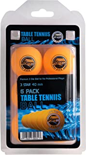 SPORTZGO Table Tennis Ping Pong Balls - 3 Star Advanced Training Regulation Size Balls Tables Pingpong Beer Pong Ball 40mm Great for Ping Pong Tournament or Amateur Games