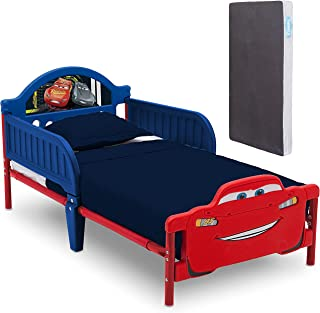 Delta Children Cars Plastic Bed with Twinkle Toddler Mattress for Kids 3yrs to 15 yrs