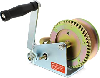 ABN 1 Ton Hand Winch Crank Gear Winch & Cable, Heavy Duty, up to 2000lbs for Trailer, Boat or ATV