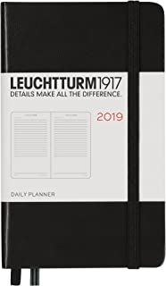 Leuchtturm1917 357876 Daily Planner 2019 Hardcover, Pocket (A6), English, Black
