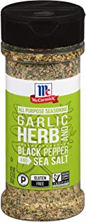 McCormick Garlic, Herb and Black Pepper and Sea Salt All Purpose Seasoning, 4.37 oz