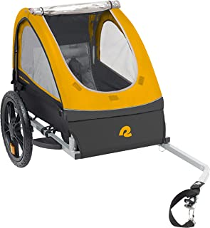 Retrospec Rover Kids Bicycle Trailer - Single & Double Passenger Children's Foldable/Collapsible Tow Behind Bike Trailer w...