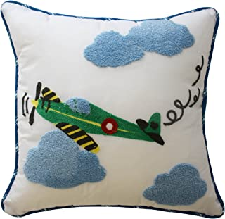 Waverly Kids 16444015X015BLU In The Clouds 15-Inch by 15-inch Airplane Decorative Accessory Pillow, Blue