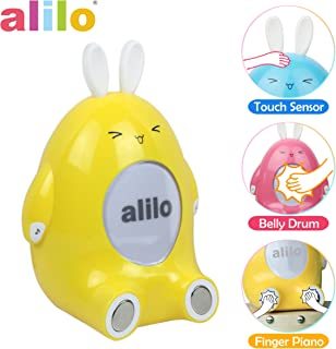 alilo P1 Rhythm Training Storyteller Happy Buddy Bunny Kids Smart Interactive Toddler Toy Features Finger Drum and Piano with Built-in Music / Song / Bedtime Story, Chew-Safe Luminous Ears, BPA Free