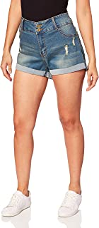 POPTIME Womens Denim Shorts Distressed Ripped Short Jeans for Women
