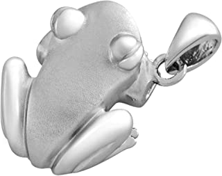 Coquí (Tree Frog) Solid Sterling Silver .925 Pendant Matte Finish