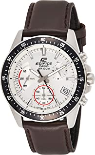 Casio Mens Quartz Watch, Chronograph Display and Leather Strap EFV-540L-7AVUEF