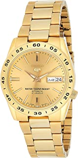 Sieko Men's SNKE06 Stainless Steel Analog with Gold Dial Watch