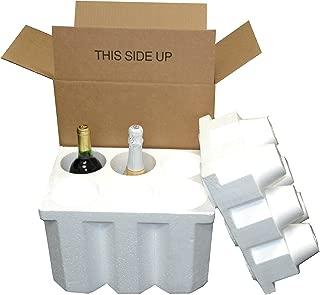 6 Bottle Styrofoam Wine/Champagne Shipping Cooler - COOL-06