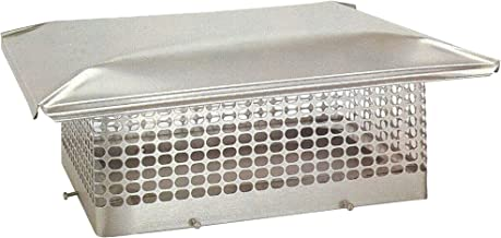 The Forever Cap CCSS813O 8 x 13-Inch Stainless Steel 5/8-Inch Spark Arrestor Mesh Chimney Cap