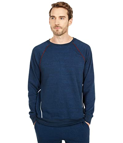 Threads 4 Thought Thatcher Tri-Blend Contrast Piping Crew Sweatshirt (Midnight) Men