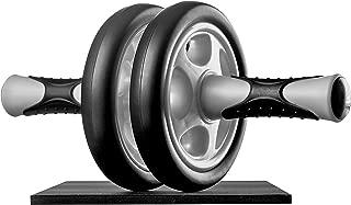 Ultrasport AB Roller Aparato de abdominales, práctico aparato de fitness para entrenar musculatura y espalda, rodillo de abdominales con esterilla para las rodillas Unisex adulto