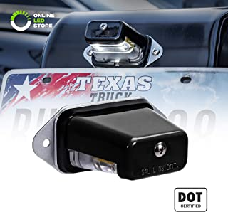 Surface-Mount LED Trailer License Plate Lights [DOT/SAE Certified] [IP67 Waterproof Rated] [Ultra-Durable] License Tags for Trailers, RVs, Trucks & Boats - Black Housing
