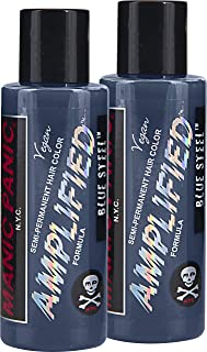 Manic Panic Amplified Semi-Permanent Hair Color Cream - Blue Steel 4oz