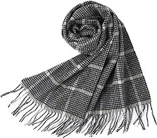 Jeff & Aimy Unisex 100% Wolle Warme Damen Schal Winter dicke lange gestrickte scarf Outdoor mit GeschenkBox