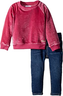 Two-Piece Set w/ Sweatshirt and Denim Pants Set (Toddler)