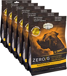 Darford - Zero/G Roasted Duck Recipe Dog Treats, Multipack Of 6/12Oz Pouches