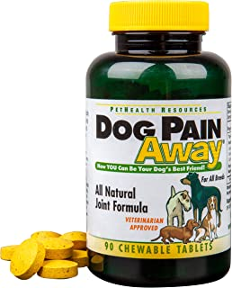 Dog Pain Away - Vet Approved Dog Pain Reliever (90 Count) - Fast Acting Pain Relief Supplement To Repair Connective Tissue and Help Alleviate Hip and Joint Pain - All Natural Chewable Tablets To Renew Your Dogs Vitality