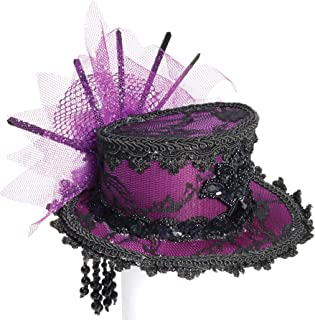 purple victorian hat