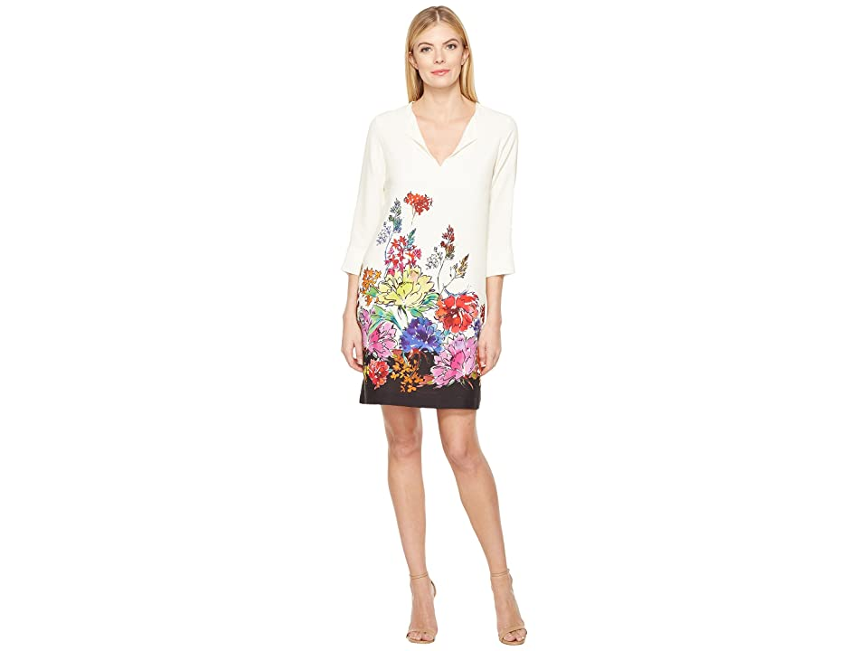 Karen Kane Floral Border Shift Dress (Print) Women