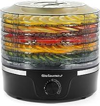 Elite Gourmet Food Dehydrator, 5 BPA-Free Stackable Trays for Jerky Herbs Fruit Veggies Snacks,...