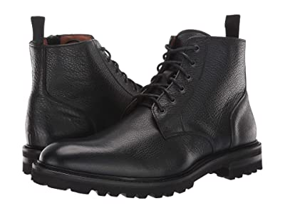 Aquatalia Leaston (Black Tumbled Calf) Men