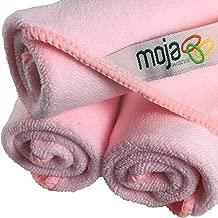 MojaWorks Plush MojaFiber Microfiber Face Cloth-Exfoliate Cleanse Pores Easily Remove Makeup Dead Skin Cells Ultra Dense 12