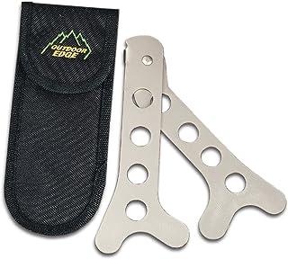 Outdoor Edge SteelStick, SS-10, Stainless Steel Brisket Rib Spreader, Big Game Hunting Field Dressing Tool, Nylon Sheath